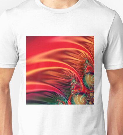 Flammendes fraktal 2 Unisex T-Shirt