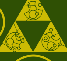 Gallifreyan Hylian Crest Sticker