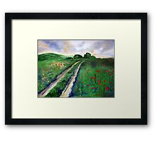 A road to somewhere Framed Print