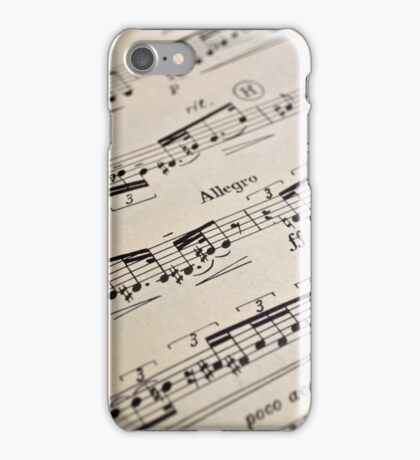 Sheet Music Pattern iPhone Case/Skin
