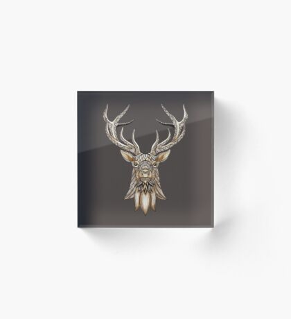 Brown Stag Acrylic Block