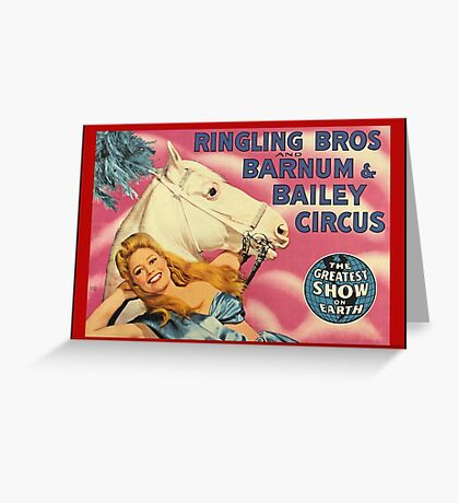 Vintage Ringling Brothers and Barnum and Bailey  Greeting Card