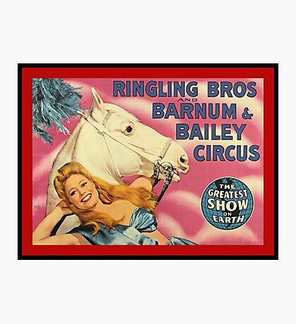 Vintage Ringling Brothers and Barnum and Bailey  Photographic Print