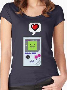 8-bit Love Women's Fitted Scoop T-Shirt