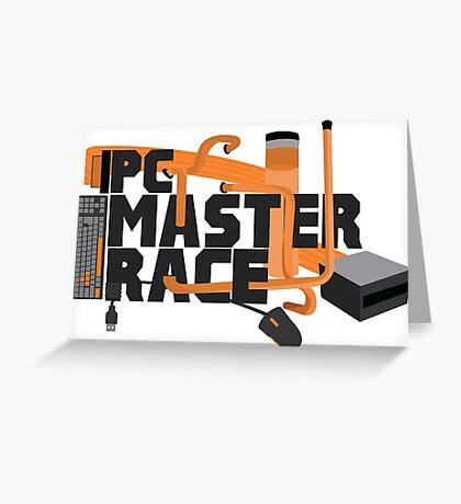 PC MASTER RACE - LOGO Greeting Card