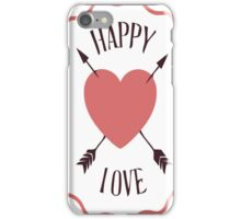 Happy valentines day with love iPhone Case/Skin