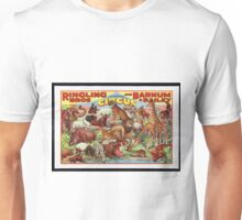 Retro Circus Poster with Animals Unisex T-Shirt