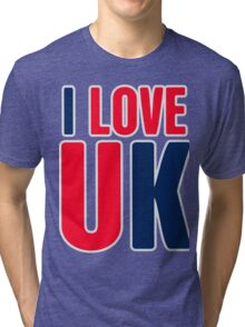 I Love UK Tri-blend T-Shirt