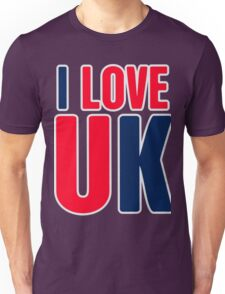 I Love UK Unisex T-Shirt