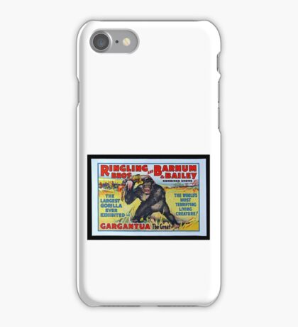 King Kong Style Circus Poster iPhone Case/Skin