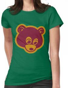 Dropout Bear Womens Fitted T-Shirt