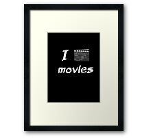 I (slate) movies Framed Print