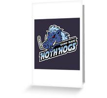 Hoth Hogs Hockey Team Greeting Card