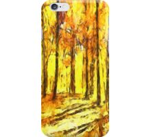 Abstract Fall iPhone Case/Skin