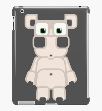 Super cute cartoon white pig - bring home the bacon with everything for the pig enthusiasts! iPad Case/Skin