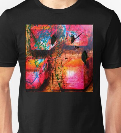 Colour Spilled on Boxes Unisex T-Shirt