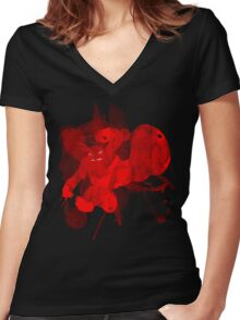Ghost Raph Women's Fitted V-Neck T-Shirt