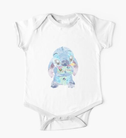 Watercolor Stitch One Piece - Short Sleeve