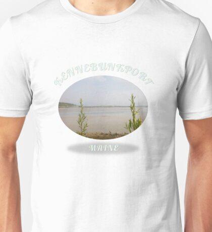 Kennebunkport Maine Foggy Ocean Sandbar  Unisex T-Shirt