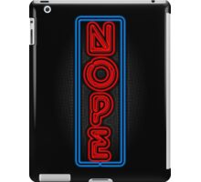Neon Nope iPad Case/Skin