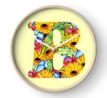 "Floral Letters ""B"" Clock"