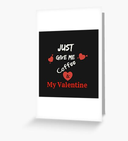 Valentine's Day Love Gifts, Valentine's Presents-Black, Red & White Greeting Card
