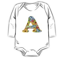 "Floral Letters ""A"" One Piece - Long Sleeve"