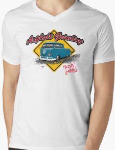Asphalt Grinding Crew Mens V-Neck T-Shirt