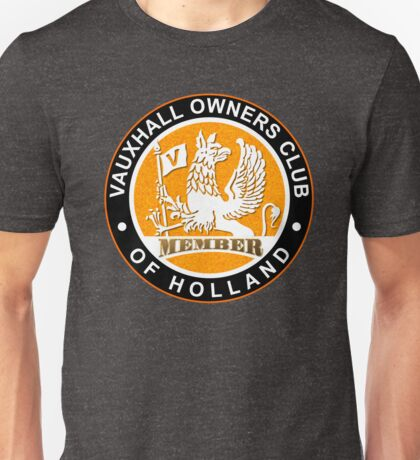 Vauxhall Owners Club of Holland GOLD MEMBER Unisex T-Shirt