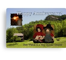 Anniversary ~ Dolls from Gladie Creek Canvas Print