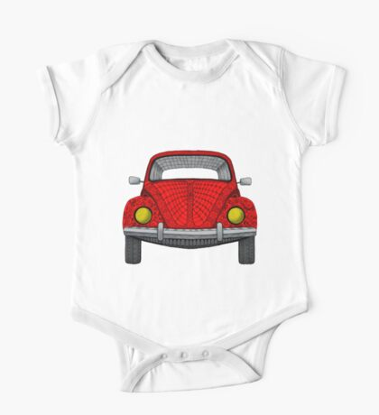 Red VW Bug One Piece - Short Sleeve