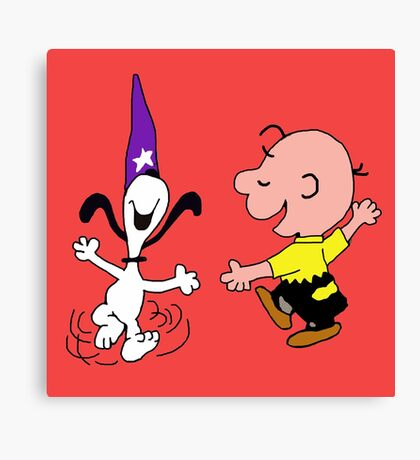 snoopy dance Canvas Print