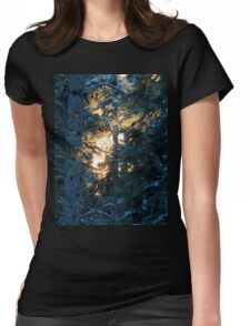 Sun's Rays Through The Trees Womens Fitted T-Shirt