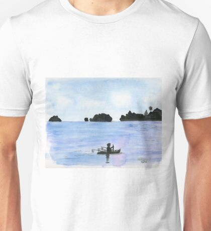 Blue Ocean Original Watercolor Painting Art Print from Watercolor Painting Landscape Art Print Watercolor Wall Art Unisex T-Shirt