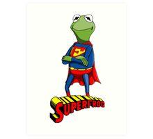 Kermit the Superman Art Print