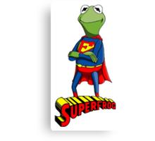 Kermit the Superman Canvas Print