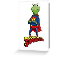 Kermit the Superman Greeting Card