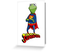 Kermit the Superman Greeting Card