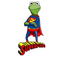 Kermit the Superman Photographic Print