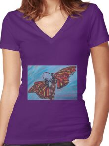 Monarchs Women's Fitted V-Neck T-Shirt