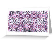 Abstract Turkish Iznik Pattern in Pink Greeting Card