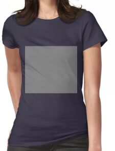 Grey Womens Fitted T-Shirt