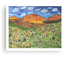 Patches Mountain Canvas Print