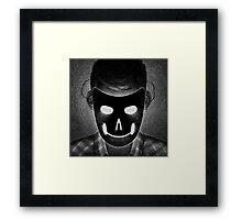 Drawlloween 2014: Mask Framed Print