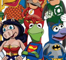 Justice League of Muppets Sticker