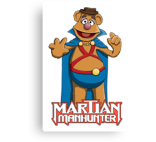 Fozzie Bear the Martian Manhunter Canvas Print