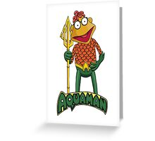 Scooter the Aquaman Greeting Card