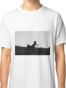 Horse Cantering alongside  Classic T-Shirt