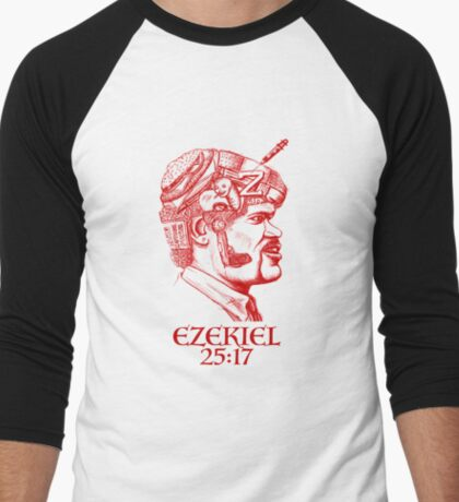 Ezekiel 25:17 The Path of the Righteous Man Men's Baseball ¾ T-Shirt