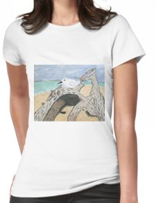 Resting Tern Womens Fitted T-Shirt